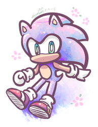 Pink Sonic but not exactly pink by Icy-Cream-24