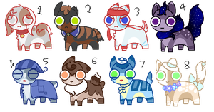 Mixed Dog Adoptables (3/8 OPEN) by puprika