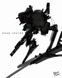 Dead Sector Cover Art design by benedickbana