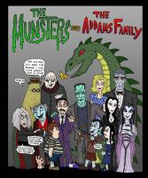 The Munsters meet The Addams by Lordwormm