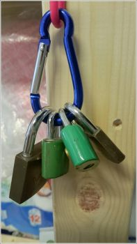 four keyless padlocks by b3lz3bu