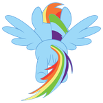 Rainbow Dash flying, rear view by vikingerik78