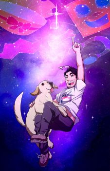 Markiplier IN SPACE! (Print + Speedpaint in Descr) by Smudgeandfrank