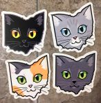 Ohio Cat Stickers by Schlady