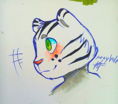 Isaac the tiger by Mary-Volt-htf