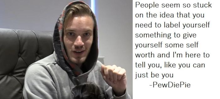 Label and self worth(PewDiePie quote) by graphicjane