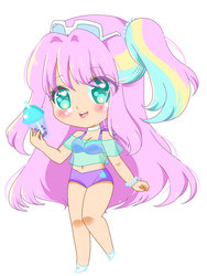 Summer time chibi by Glaceypuff