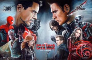 CAPTAIN AMERICA : CIVIL WAR FANART PASTEL DRAWING by FawnCorner