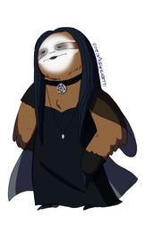 Goth Sloth - Musical Sloths by IllustratedJai