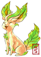 Leafeon I Choose You by cerasly