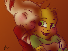 Wittle Kaden and Awistuh by LadyLombax