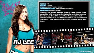 WWE AJ Lee ID Wallpaper Widescreen by Timetravel6000v2