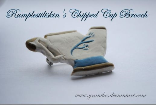 Rumplestiltskin's Chipped Cup brooch by yrantho