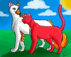 Cat and Gryphon by Leopard-Gryphon