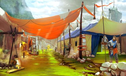 Market mood painting by arcipello