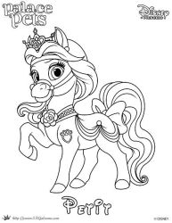 Petit Princess Palace Pet Coloring Page SKGaleana  by SKGaleana