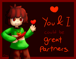 Chara is now your valentine! by Thy-xin