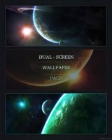 Dual-screen Wallpaper pack by Burning-Liquid