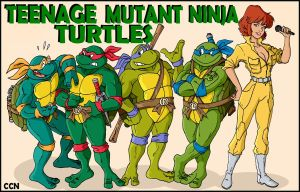 Four Turtles and a Woman by Retro-CCN
