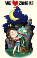 We love Zombies by Frank-Cadillac