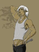 Blood and Oil Fenris Elf by AgeOfRogues