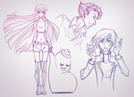 Code Geass Doodles by Adreean
