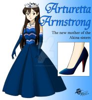Arturetta Armstrong in a gown by ArthurT2015