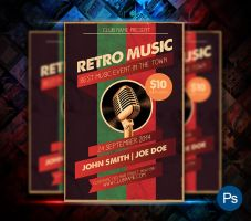 Retro Music Flyer by afizs