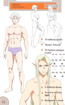 52nd pack - Male bodytypes by Precia-T