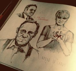 House of Cards sketchbook page by francesco-segala