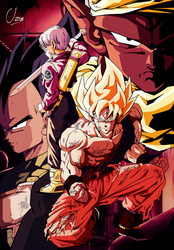 Gokussj-Trunks-Vegeta-Piccolo-byUzne by Uzne