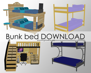 Bunk bed [DOWNLOAD] by ShootingStarBlue