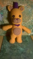 Golden Freddy Amigurumi - Captain Cutter by hunterN05