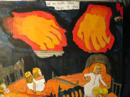 Henry Darger - Hands of Fire by metal-kiwi