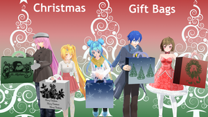Christmas gift bags [+DL] by triangleboxstudio