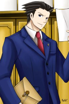 Phoenix Wright by Martelca