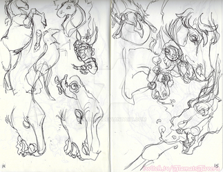 Horse Studies by tiamat