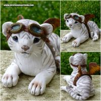 Baby Steampunk White Tiger by MysticReflections