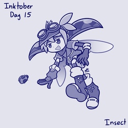 Inktober day 15 - Insect by swim-fin