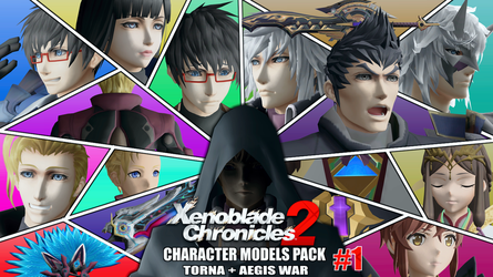 [Xenoblade 2] - Models Pack #1 (Torna + Aegis War) by Foxie-The-Vulpix