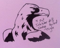 Inktober 3 - Wedge tailed eagle by sarahyt