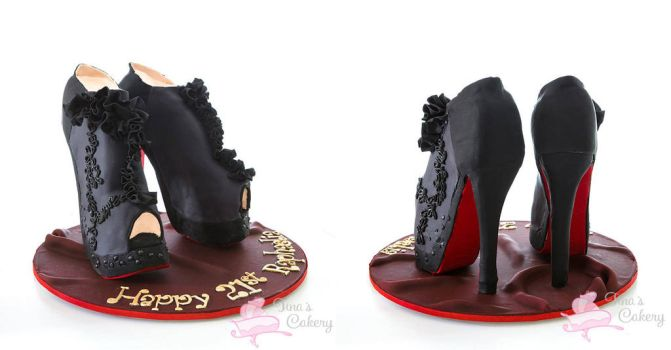 Shoes Cake! by Igasm
