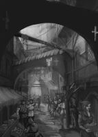 Medieval street, concept by QuintusCassius
