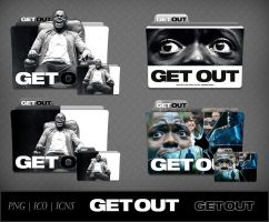 Get Out (2017) Movie Folder Icon Pack by DhrisJ