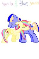 Vanilla Swirl and her brother Blue Swirl by AlyssumPetal