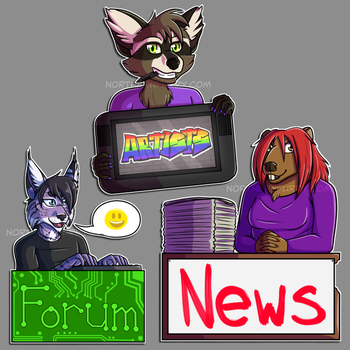 Commission - Northern Furry Website Signs by GlimmeringAlder