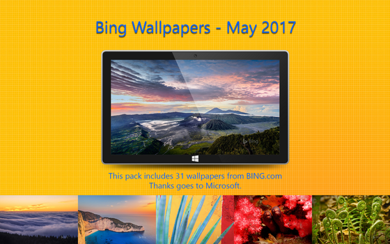 Bing Wallpapers - May 2017 by Misaki2009