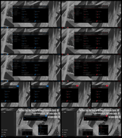 Pure Black Glass Blue and Red Theme Win10 Fall by Cleodesktop