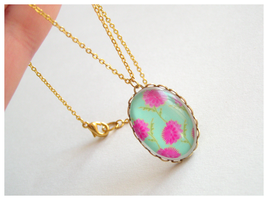 Turquoise flower cabochon by Leviana