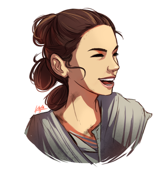 Happy Rey by KalaSketch